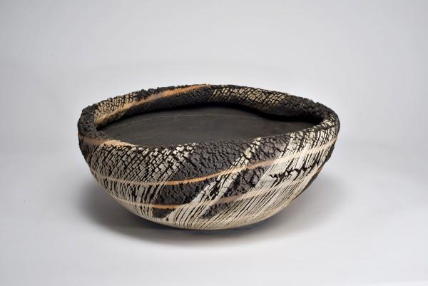 Keramikschale -Retsumon-Tanka-Kaki-Daen