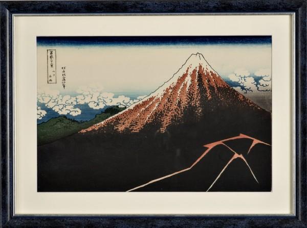 Ukiyo-e - Gewitter unterhalb des Gipfels