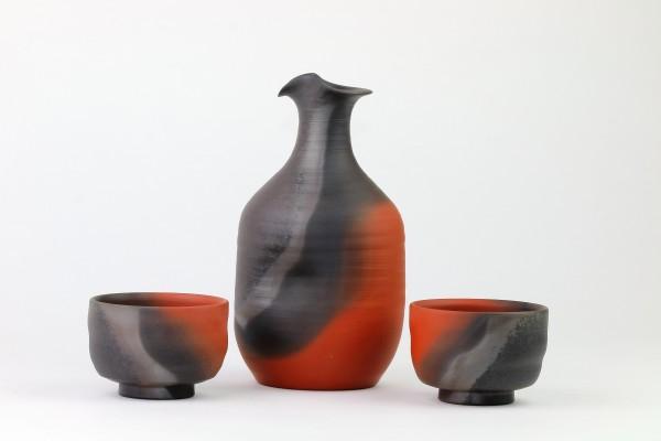 Sake-Set Mumyoui Yaki-Keramik