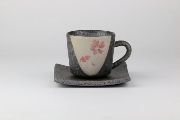 """Shigarakiyaki-Keramik Kaffeetasse """"Momosakura"""""""