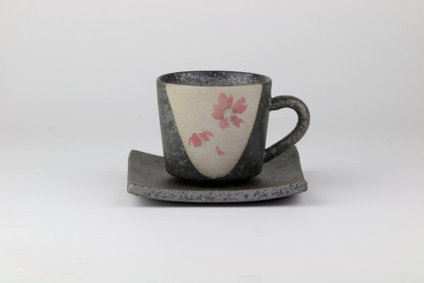 "Shigaraki Yaki-Keramik Kaffeetasse ""Momosakura"""