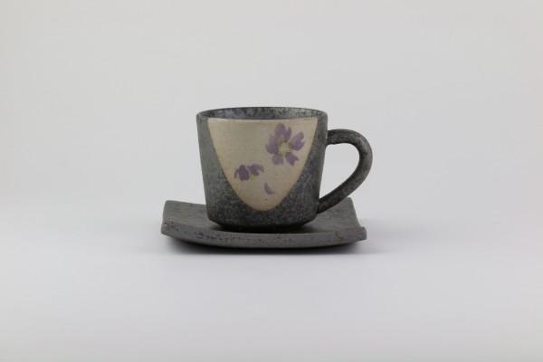 """Shigarakiyaki-Keramik Kaffeetasse """"Mintosakura"""""""