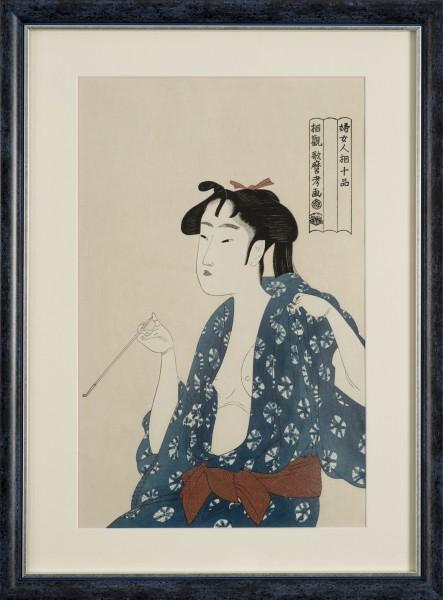 Ukiyo-e -Die rauchende Frau-