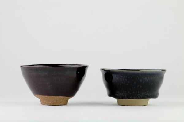 Sake Tassen-Set Tenmoku -Konoha- und Tenmoku -Yuteki-