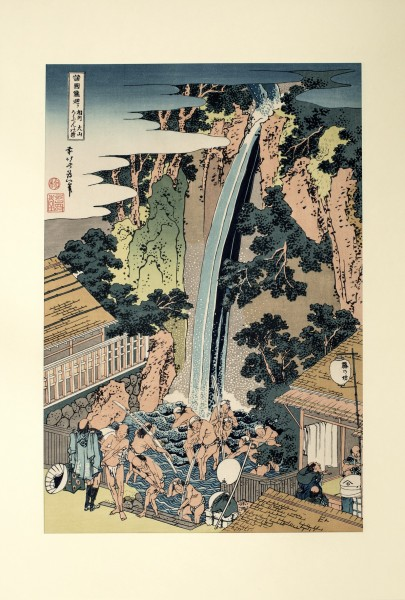 Ukiyo-e -Der Roben-Wasserfall-