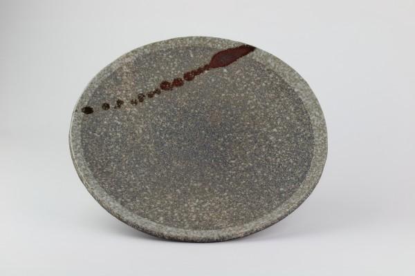 Steakteller Tanba-Tachikui Yaki-Keramik