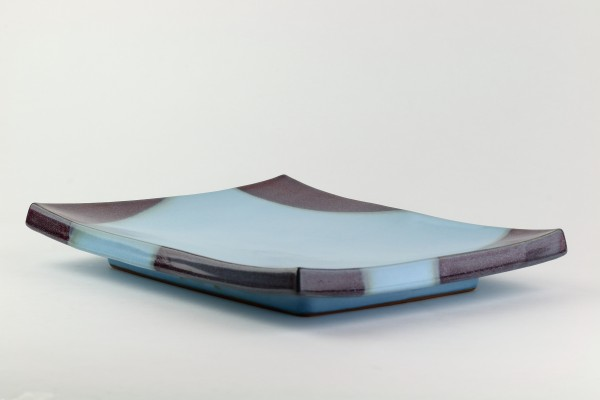 Keramikplatte -Karmesin-